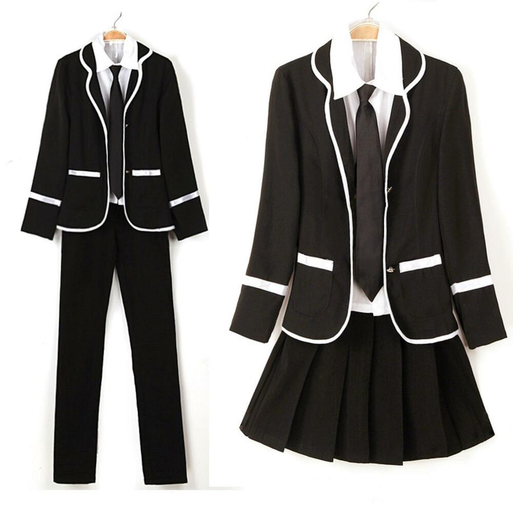 Japanese High School Girls Boys School Uniform Costume ...
