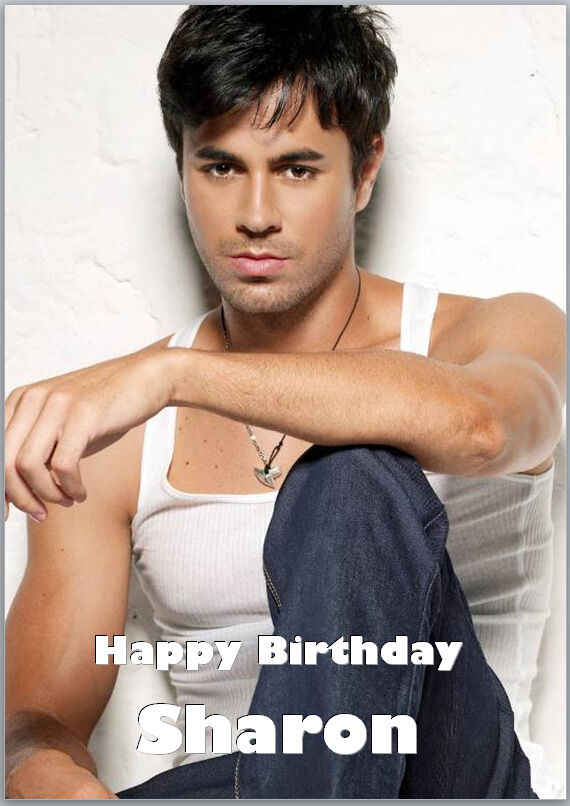 Enrique Iglesias Birthday Card A5 Personalised With Own Words Ebay