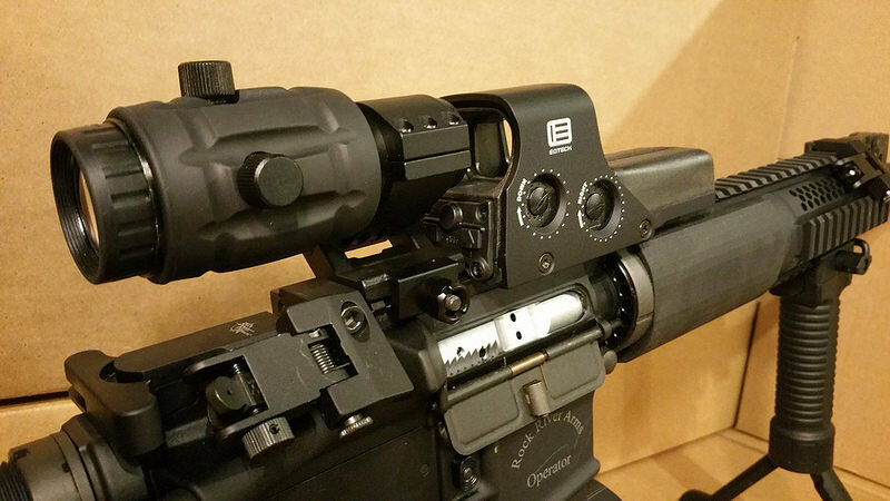 Eotech 512 W 3x Vector Optics Magnifier Flip Mount Red