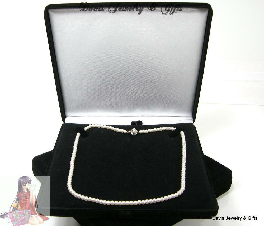 New black velvet jewelry store style xl necklace pearl for Red velvet jewelry gift boxes