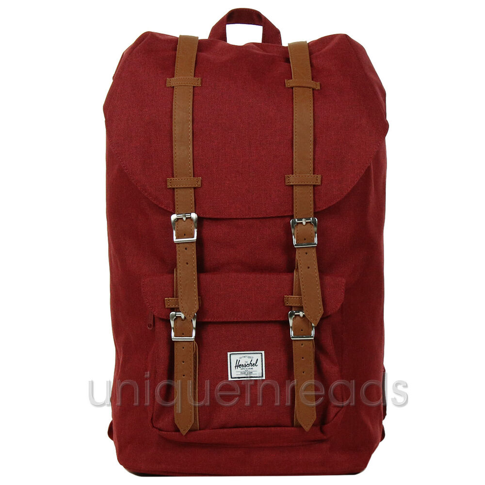 Details about Herschel Supply Co. - Little America Backpack - Winetasting  Crosshatch   Tan 017492758d3cd