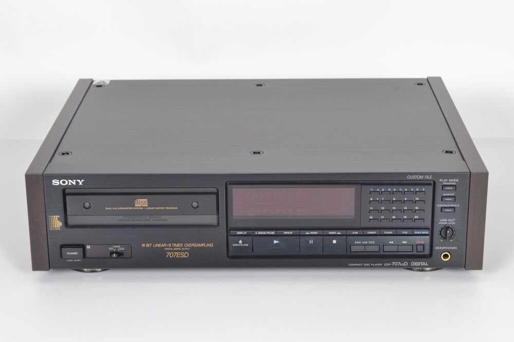 sony cdp 707esd compact disc cd player digital audio. Black Bedroom Furniture Sets. Home Design Ideas