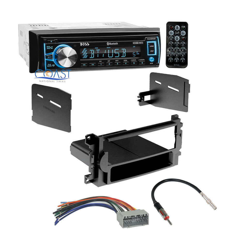 Boss Bluetooth Car Radio Stereo Dash Kit Harness For 2004  Chrysler Dodge Jeep