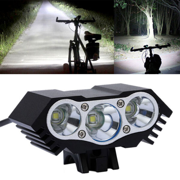3x CREE XM-L T6 LED 10000Lm Cycling Bicycle Bike Front Headlight Lamp US Stock