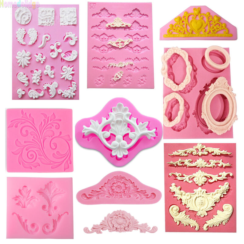 Sculpted Lace Silicone Fondant Mold  Candy Chocolate Cake Decorating Baking Tool