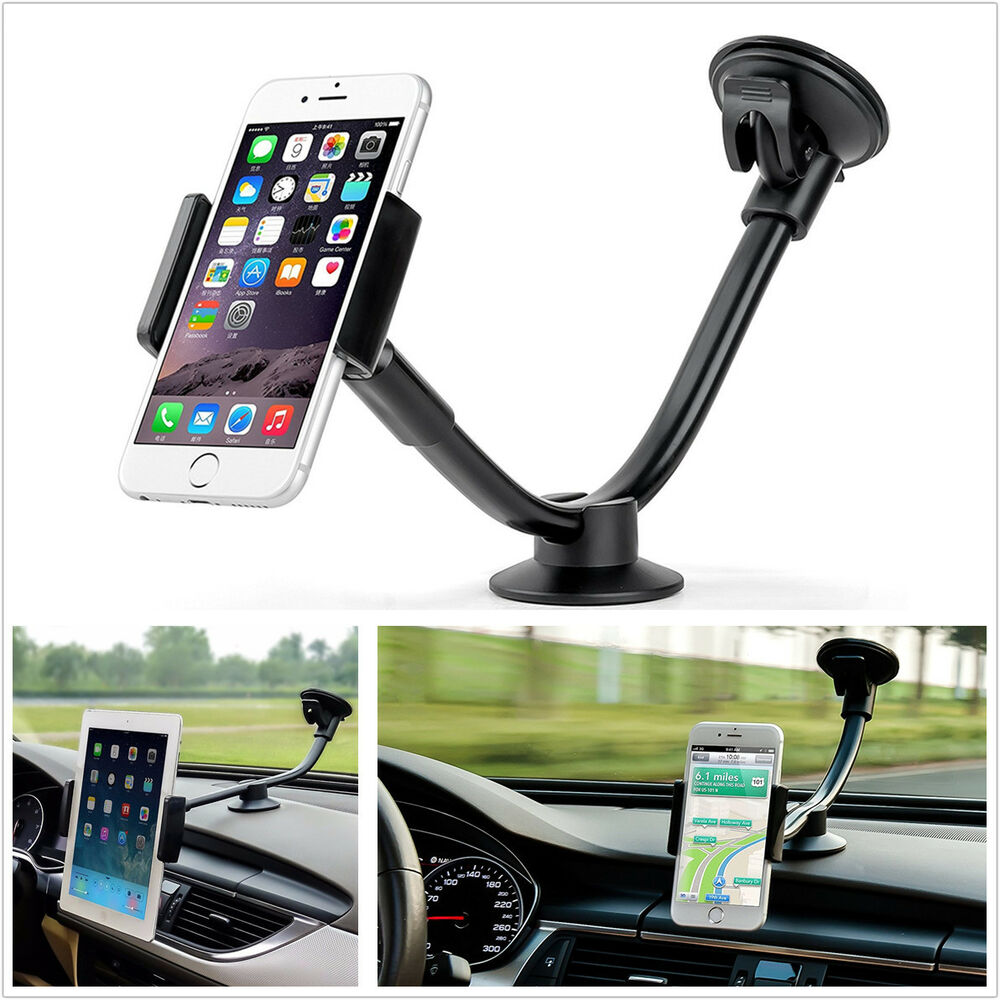 iphone car mount arm 2 sizes car windshield dash phone mount holder 11699