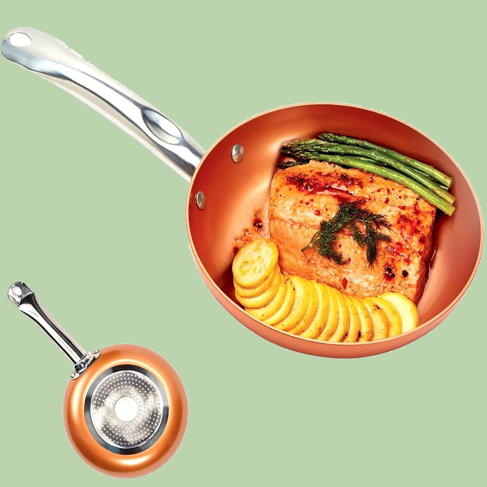Copper Chef 10 Inch Round Frying Fry Pan Non Stick