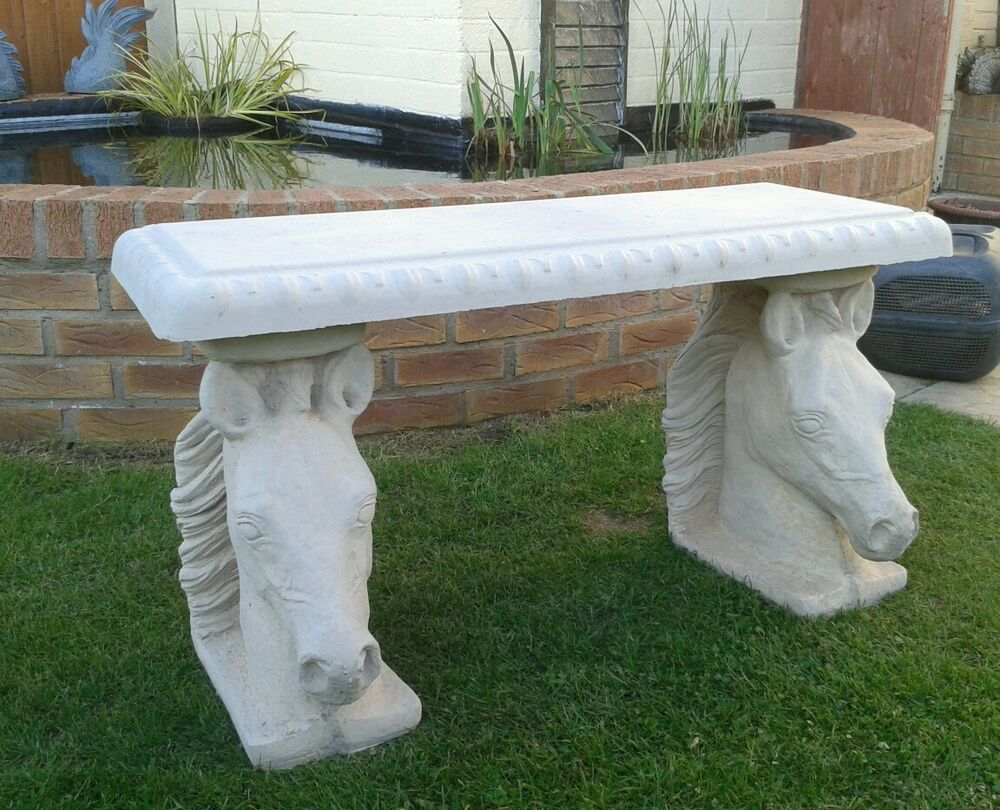 Concrete Garden Patio Benches eBay