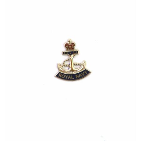 img-Royal Navy British Enamel pin badge Military gift supplied in gift pouch BGK1