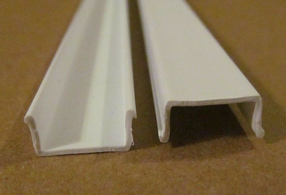 7 pieces 72 white plastic rigid insert screw cover door window molding 7 16 ebay Plastic molding for exterior doors