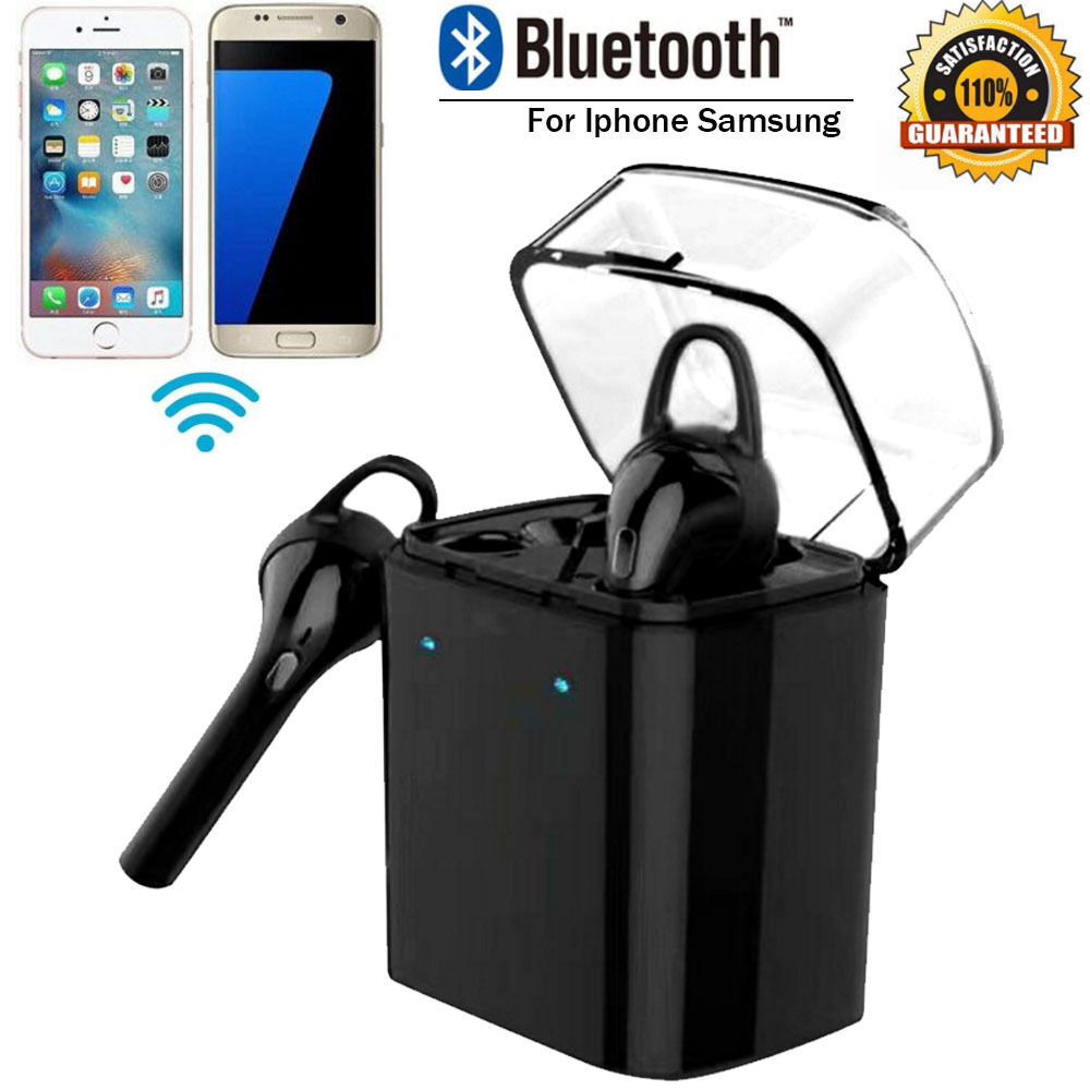 Wireless Bluetooth Stereo Headset In-ear Earphones For Iphone 7 Airpods Android