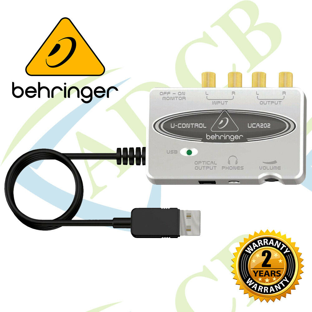 behringer uca202 u control ultra low latency 2 in 2 out usb audio interface ebay. Black Bedroom Furniture Sets. Home Design Ideas