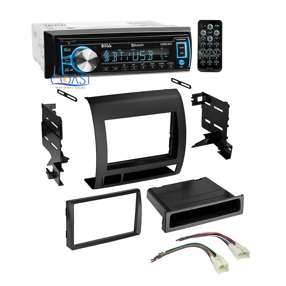 Boss Car Bluetooth Radio Cd Stereo Dash Kit Harness For 2005