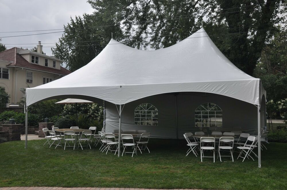 New 20 X 30 White Canopy Tent High Peak Frame Tent Party