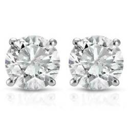 Kyпить 1/2Ct Round Genuine Diamond Studs Earrings in 14K White Or Yellow Gold на еВаy.соm