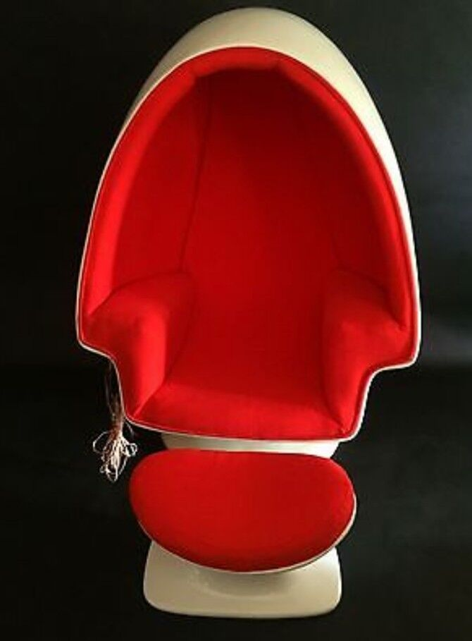 Lee West Alpha Chamber Egg Pod Stereo Chair W Stool Original Ebay