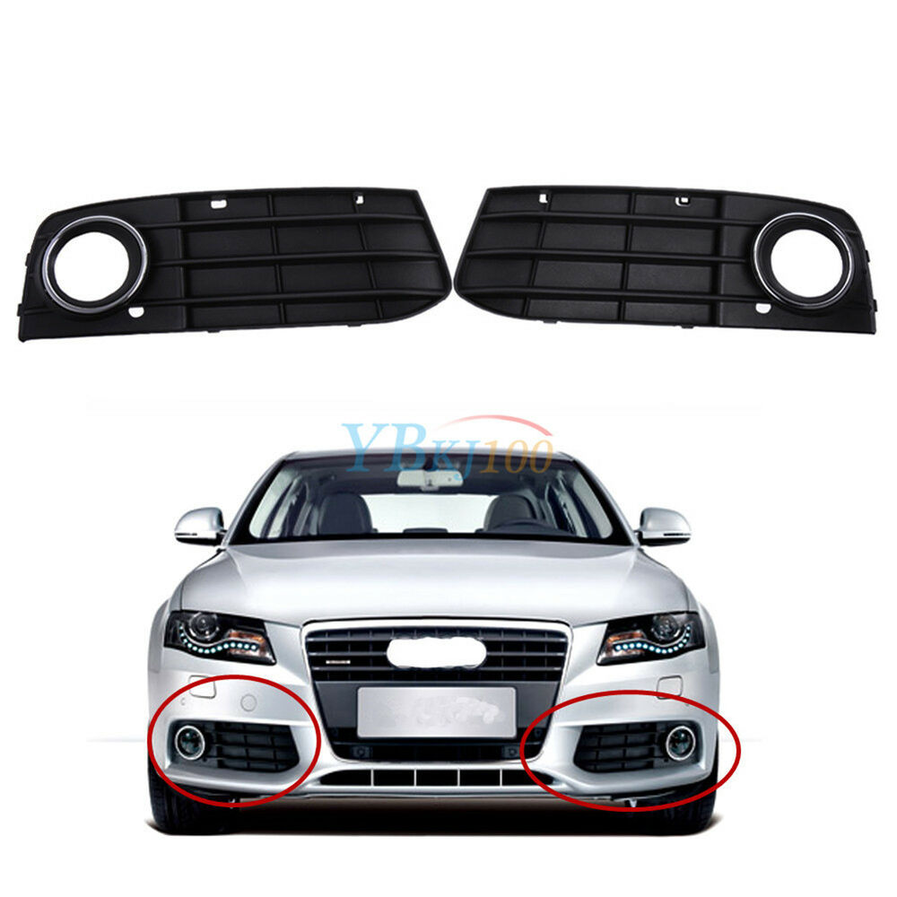 front bumper grill fog light grille cover for audi a4 b8. Black Bedroom Furniture Sets. Home Design Ideas