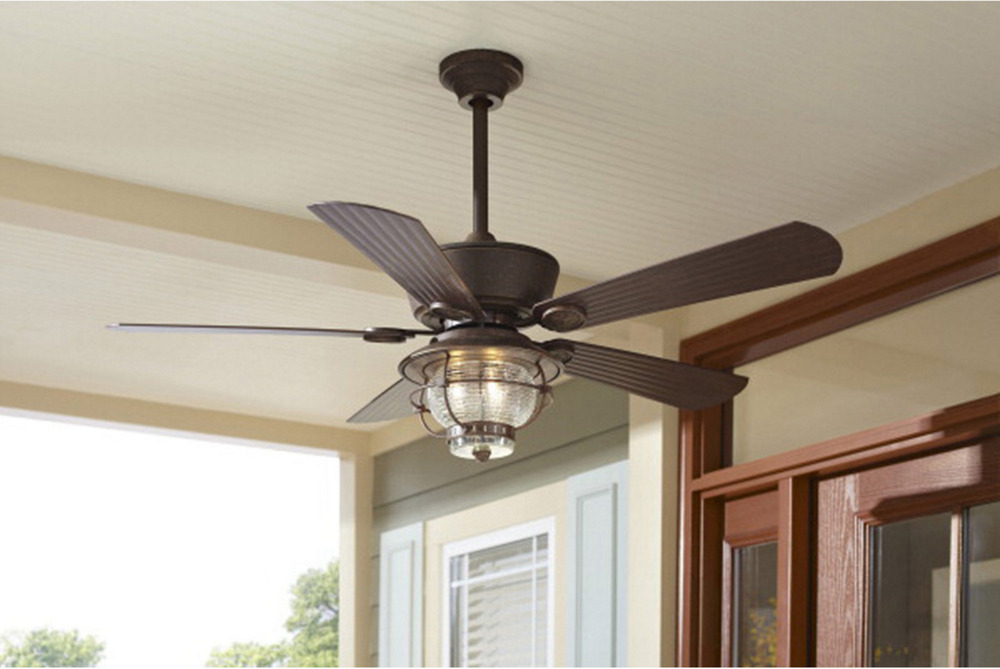 "Outdoor/Indoor 52"" Patio Ceiling Fan + Remote Transitional"