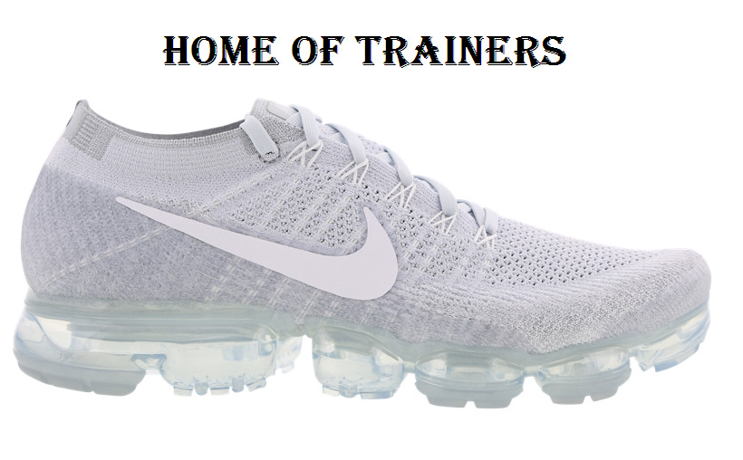 buy popular bc5e3 02ef6 Details about Nike Air Vapormax Flyknit Pure Platinum White Wolf Grey Men s  Trainers All Sizes