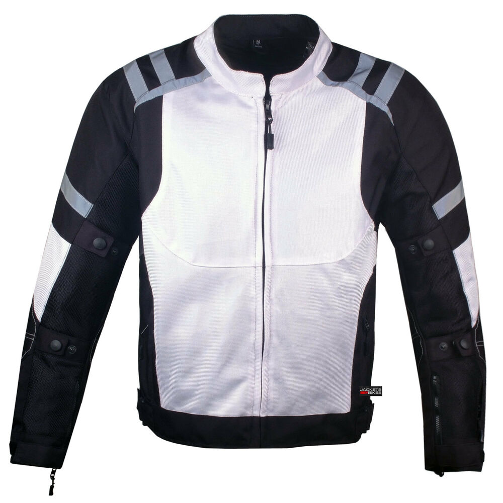 Mens Storm Mesh Summer Armored Reflective Waterproof White ...