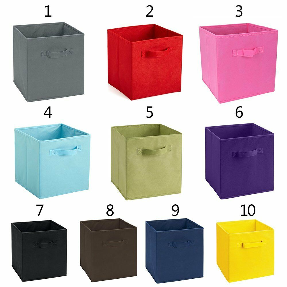 foldable storage collapsible folding box home clothes organizer fabric cube ebay. Black Bedroom Furniture Sets. Home Design Ideas