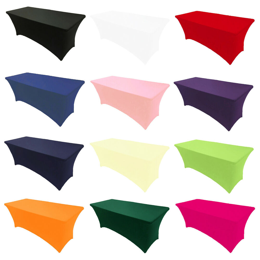Spandex Fitted Stretch Tablecloth Rectangular Table Cover