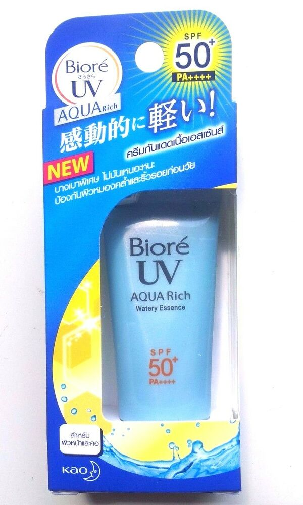 KAO BIORE UV AQUA RICH WATERY ESSENCE SUNSCREEN SPF50+ PA++++ HYALURONIC ACID  | eBay