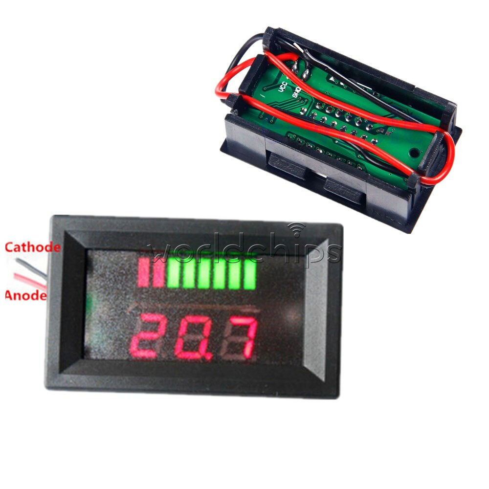 12v acid red lead battery capacity indicator charge level led tester voltmeter ebay. Black Bedroom Furniture Sets. Home Design Ideas