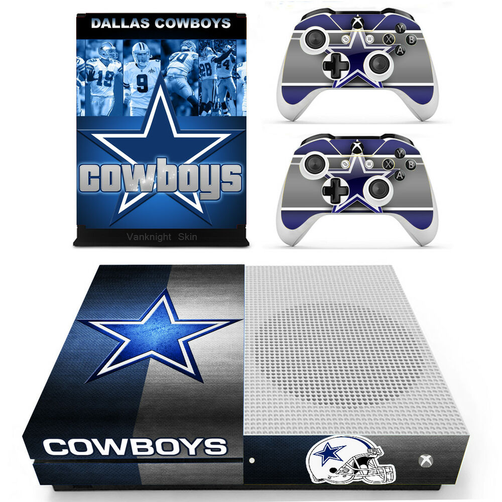 nfl dallas cowboys vinyl skin decal sticker for xbox one s console 2 controllers 602668716578 ebay. Black Bedroom Furniture Sets. Home Design Ideas