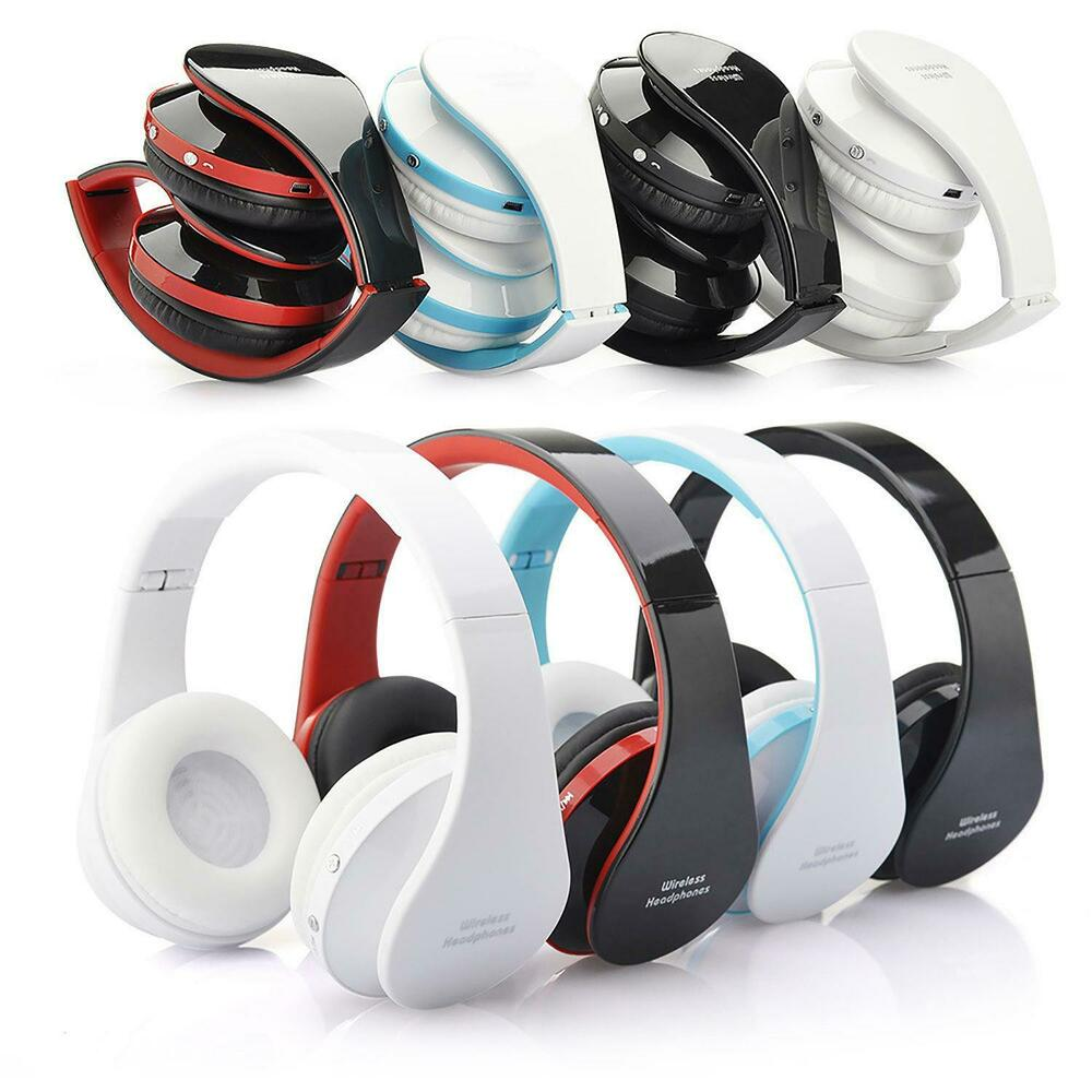 foldable wireless bluetooth headset stereo headphone for all phone tablet laptop ebay. Black Bedroom Furniture Sets. Home Design Ideas