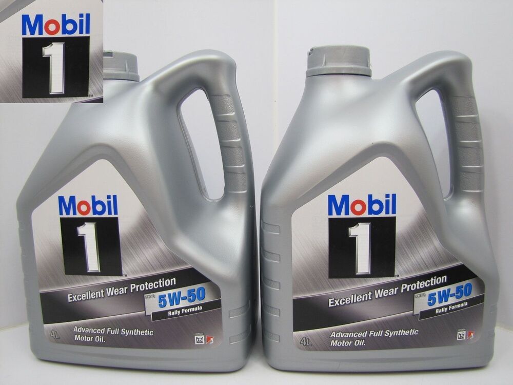2 x 4 l 8 l mobil 1 fs x1 5w 50 5w50 rally formula ebay. Black Bedroom Furniture Sets. Home Design Ideas