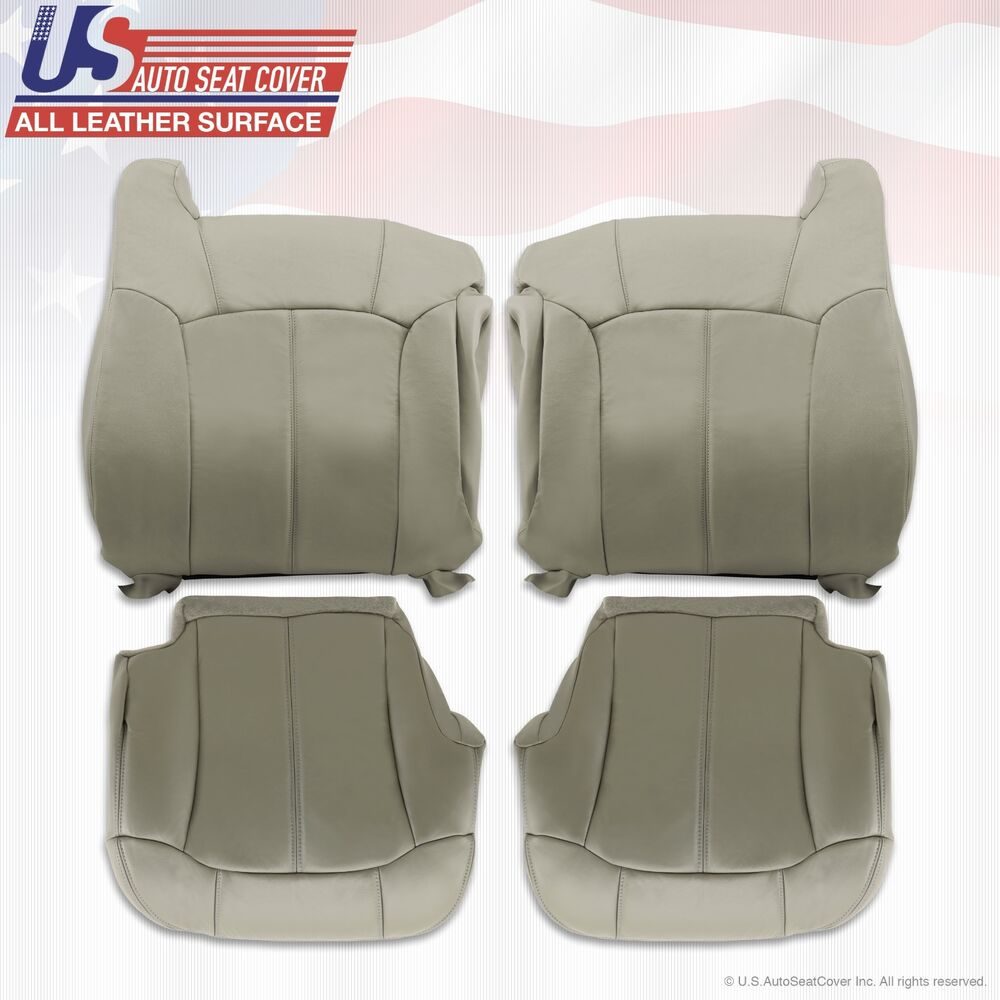 1999 2000 2001 2002 chevy tahoe suburban upholstery leather seat cover gray ebay for 2001 chevy tahoe interior parts