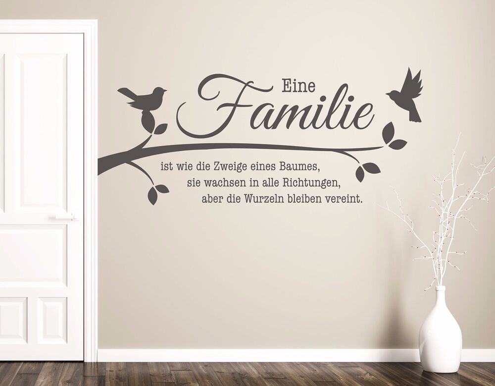 wandtattoo wohnzimmer wandtatoo spruch familie ist. Black Bedroom Furniture Sets. Home Design Ideas