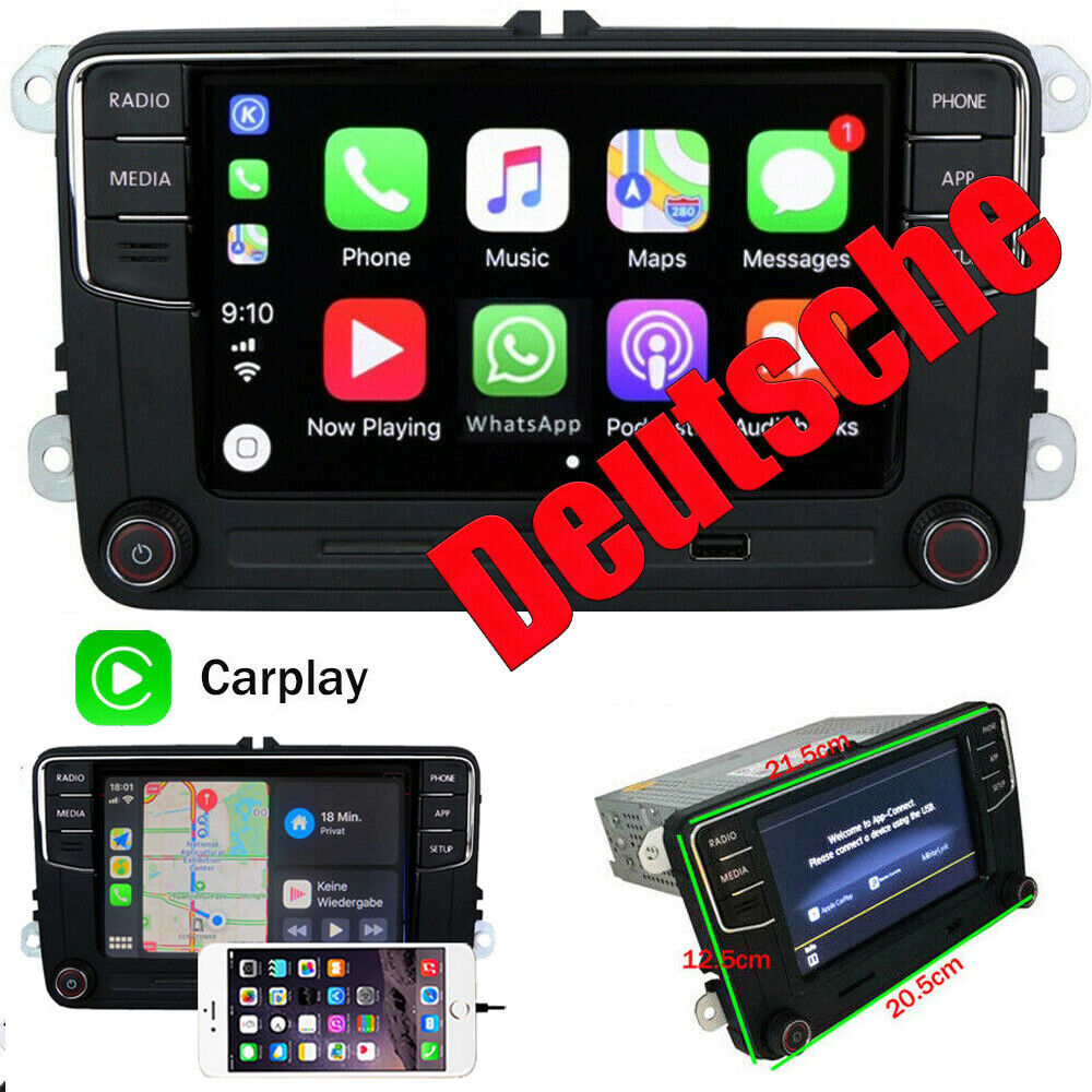 6 5 car stereo mib2 rcd330 carplay mirrorlink bt rvc vw. Black Bedroom Furniture Sets. Home Design Ideas