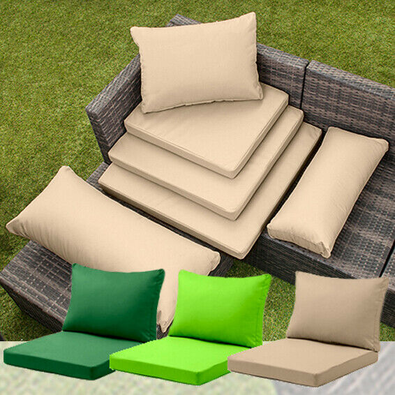 Rattan furniture replacement cushions sofa water resistant for Garden furniture seat cushion covers
