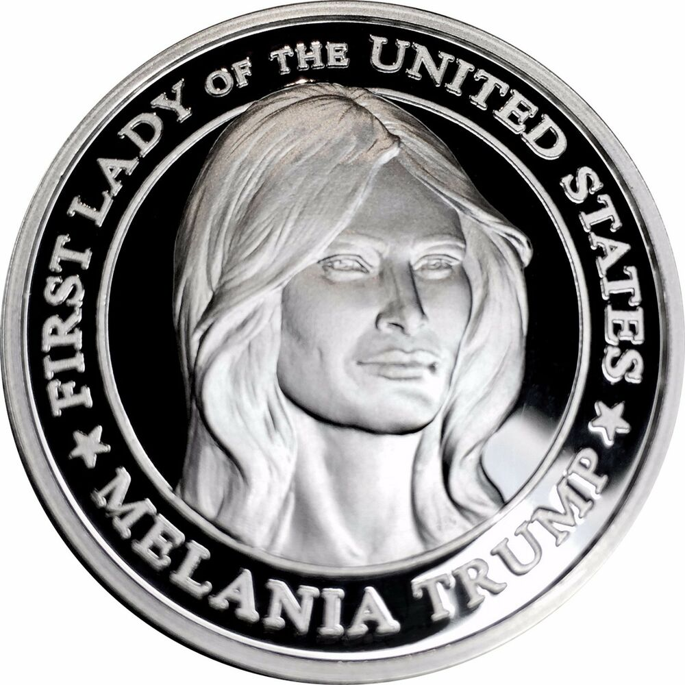 1500 Made Proof 999 Silver One Toz Donald And Melania