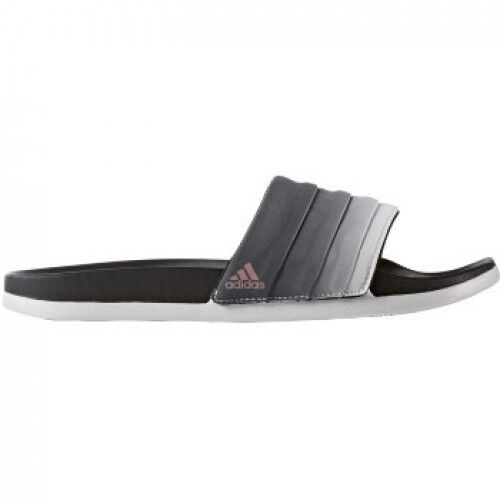 f2ef29743bc25e Details about New WOMENS Adidas ADILETTE CF Black Gray Slides Sandals Flip  Flops BB3732