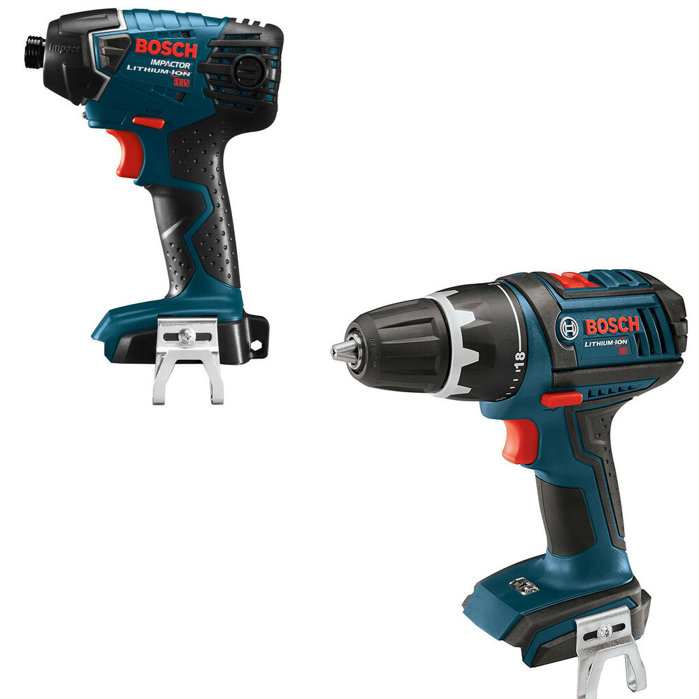 bosch dds181b rt 18 volt cordless 18v drill driver 25618b rt impact driver ebay. Black Bedroom Furniture Sets. Home Design Ideas