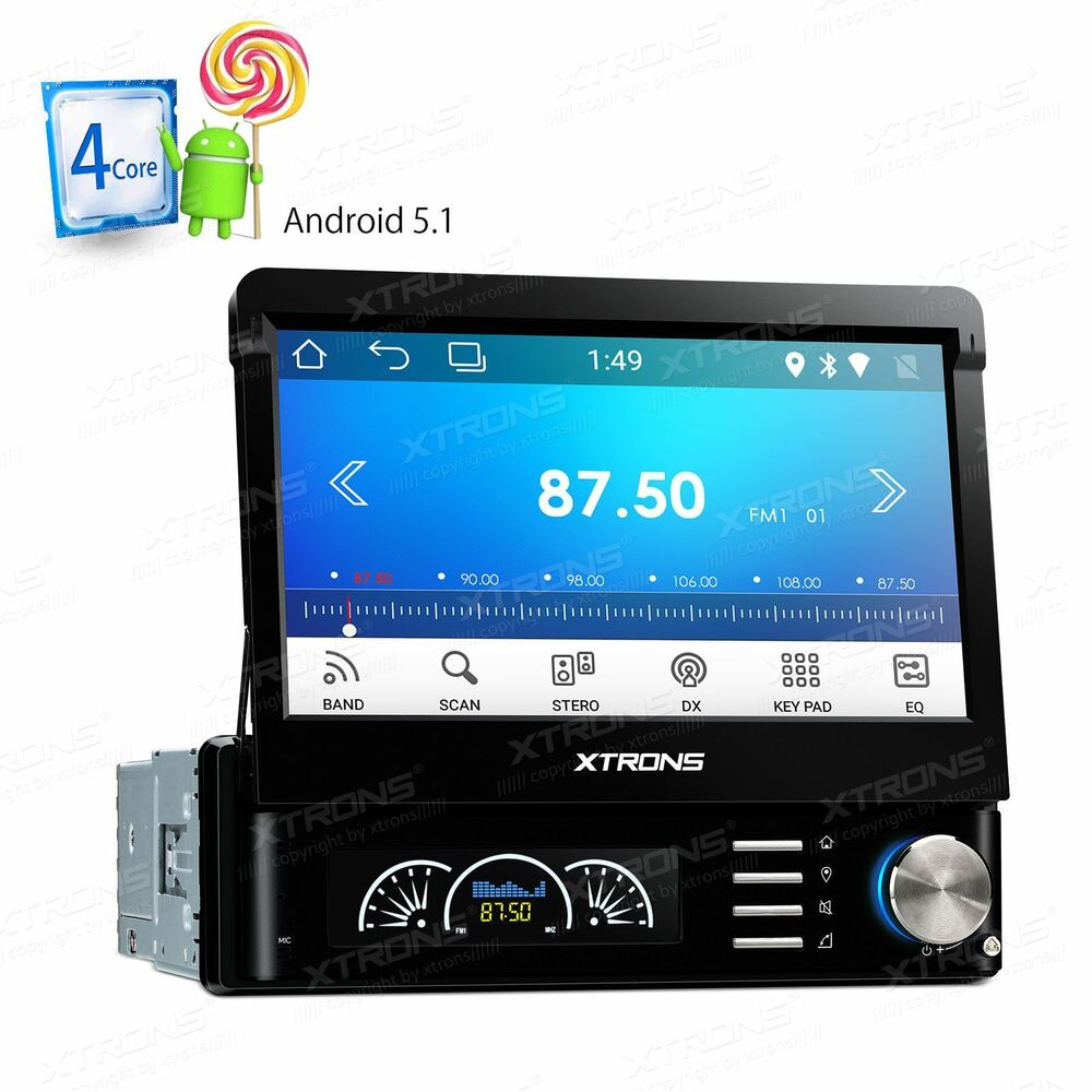 xtrons android 5 1 7 single din car stereo gps sat nav. Black Bedroom Furniture Sets. Home Design Ideas