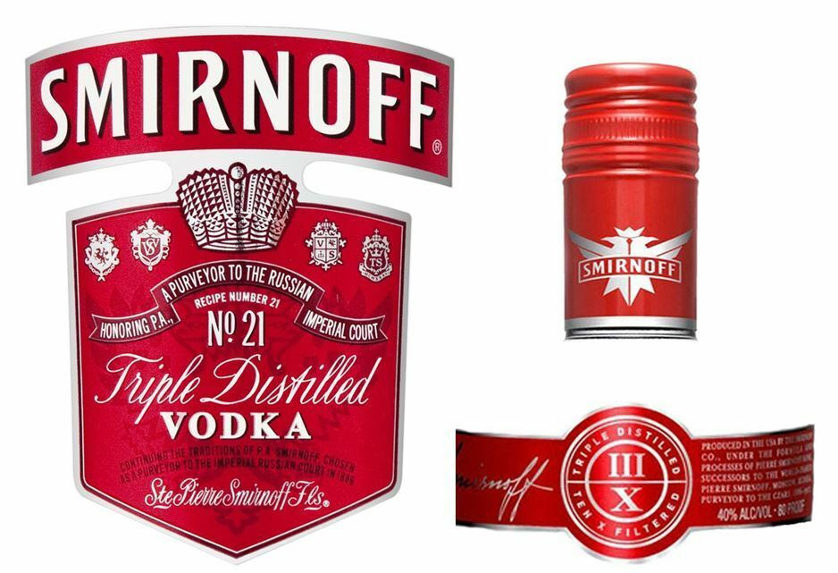 It is a graphic of Terrible Personalised Vodka Bottle Labels