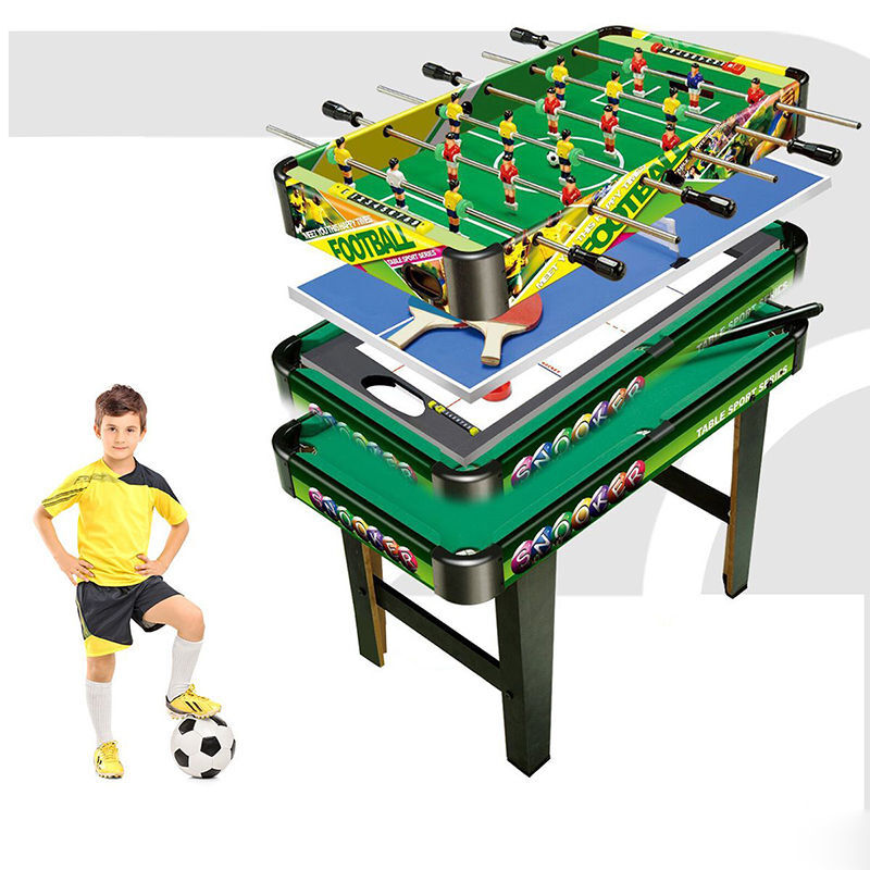 4 in 1 table tennis games air hockey pool foosball soccer for 10 games in 1 table