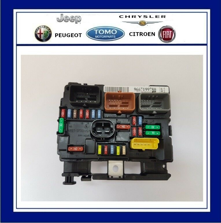 Fuse Box In Peugeot 207 Wiring Diagrams 206 Diagram New Genuine Oe Engine Bay Bsm Fits Cc