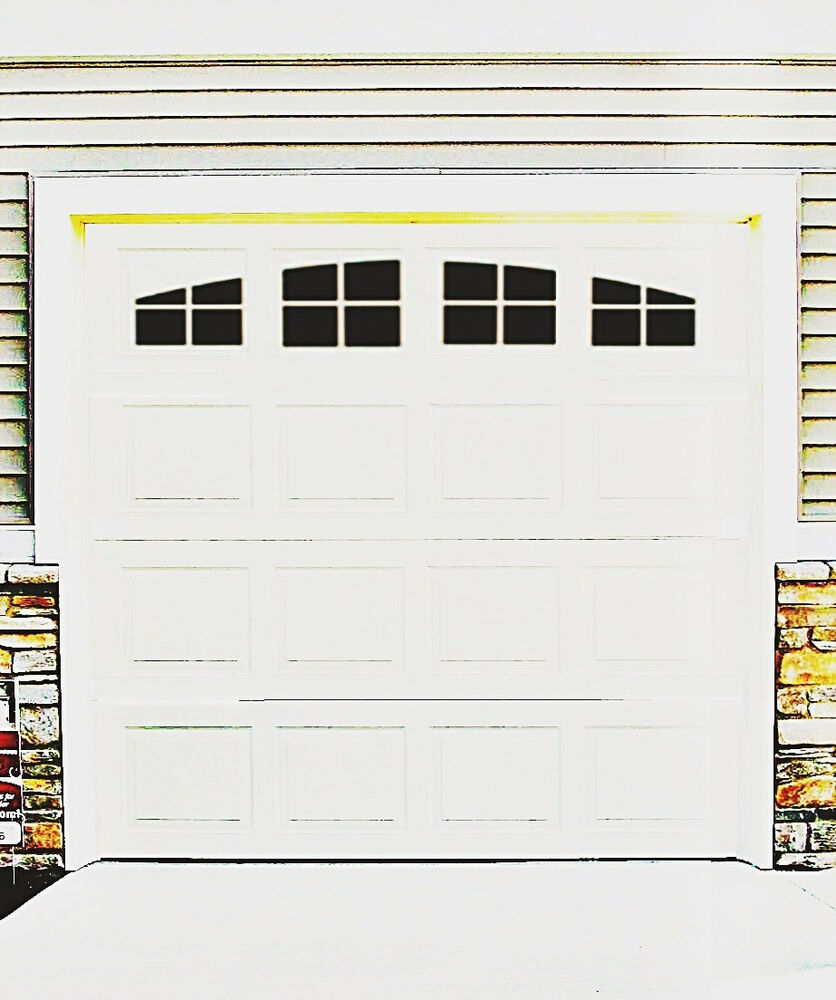 Garage Door Vinyl Window Decals: Garage Door Vinyl Decals: Arch Stockton Style Faux Windows