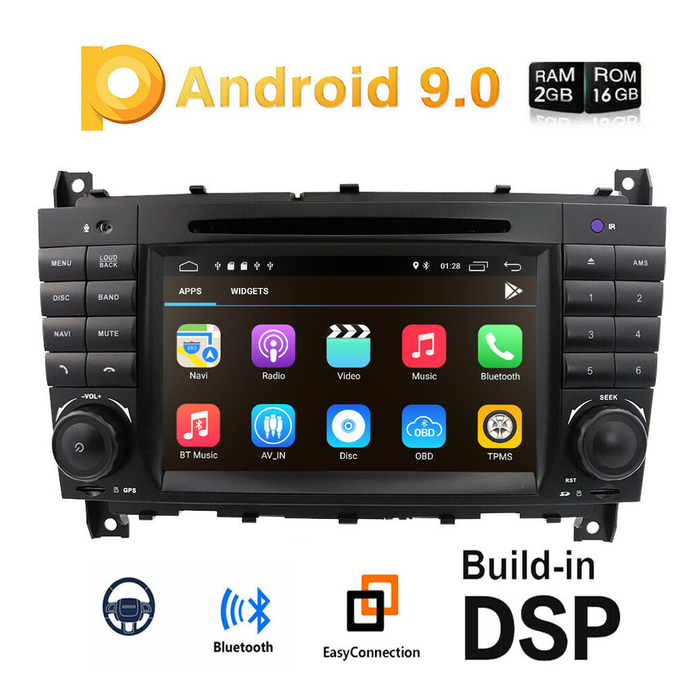car stereo android 7 1 radio dvd 7 gps sat nav for. Black Bedroom Furniture Sets. Home Design Ideas