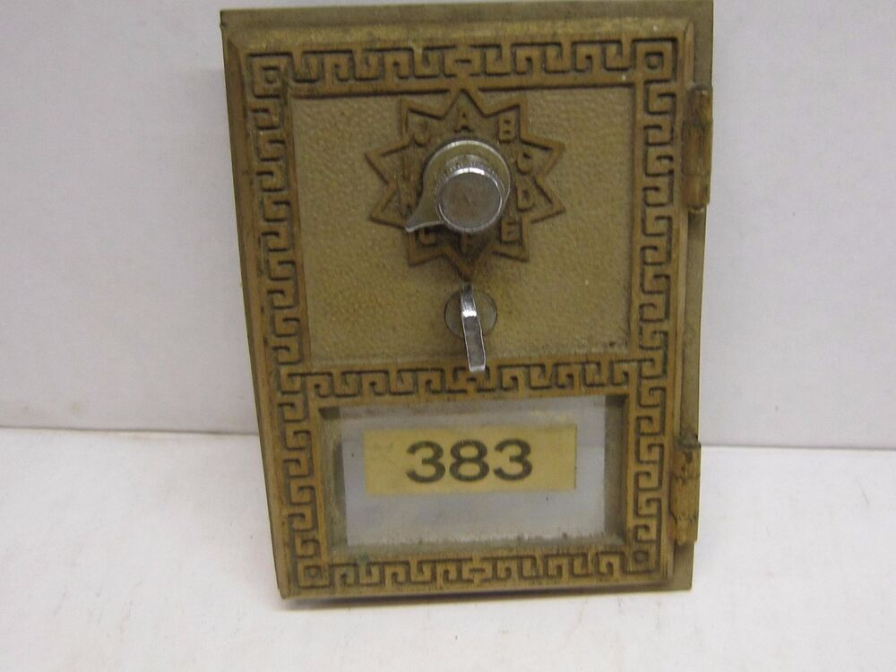 Bronze post office mail box door greek key design for Door key design