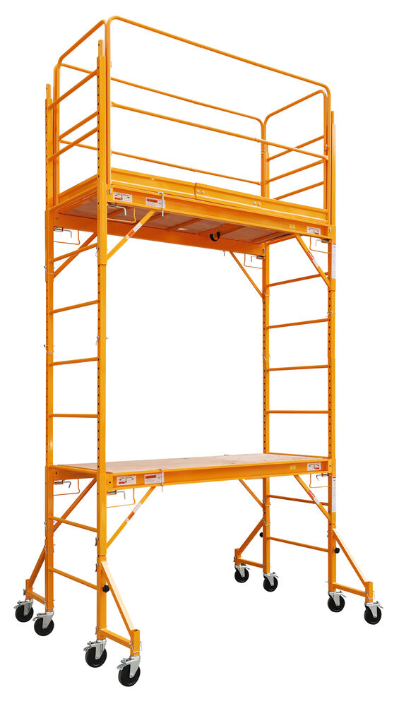 12 Ft Scaffold 2 Story Rolling 1000 Lb Capacity Painting