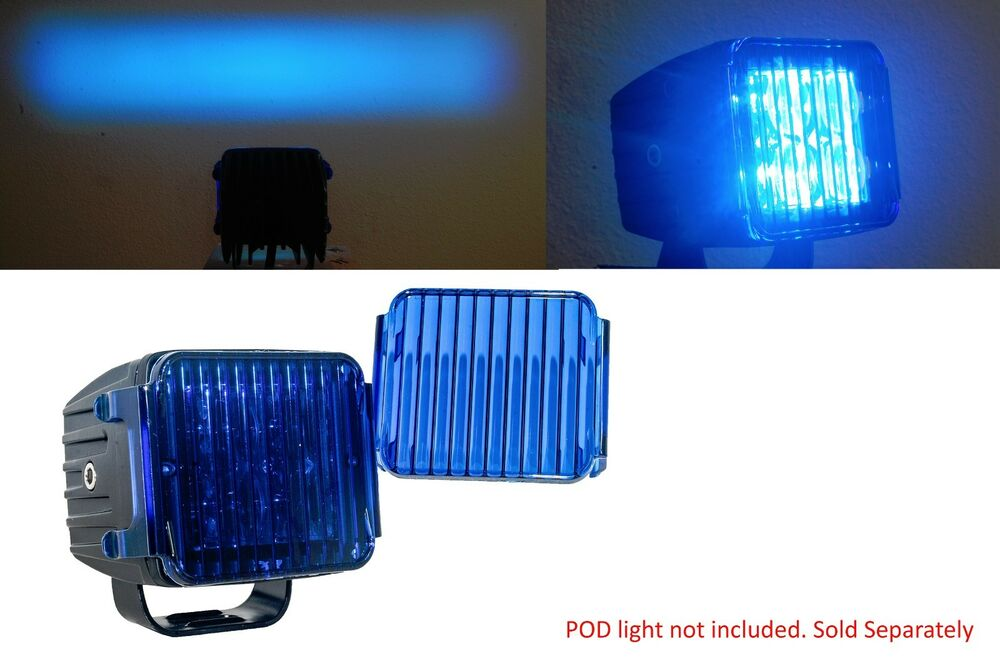 3 Quot Blue Flood Lens Cover Led Cube Pod Light Fog Snow Mud