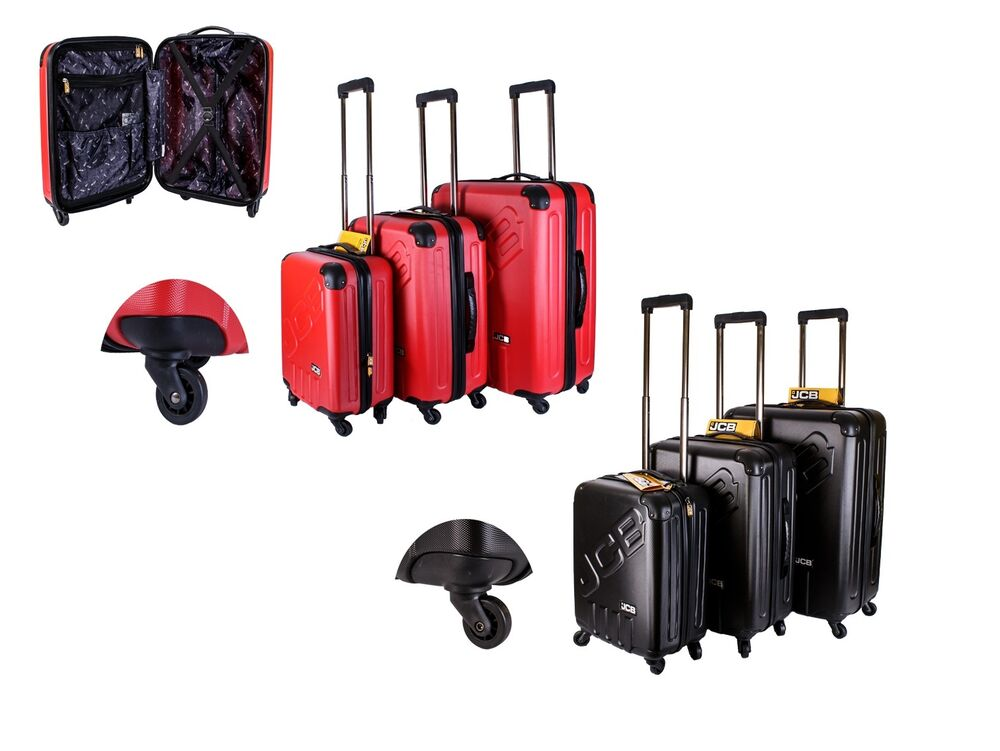Details about JCB Hard Shell 4 Wheel Spinner Suitcase Luggage Cabin Travel Trolley  Case Bags 1129d33084
