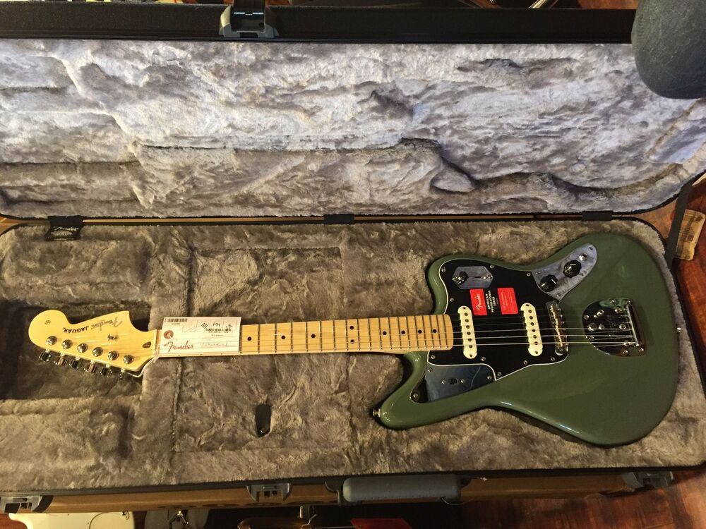 fender american pro jaguar antique olive electric guitar 2017 ebay. Black Bedroom Furniture Sets. Home Design Ideas