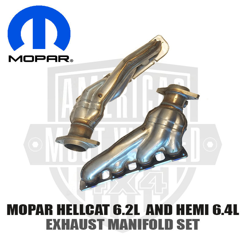 mopar hemi 6 4l and 6 2l hellcat exhaust manifold headers. Black Bedroom Furniture Sets. Home Design Ideas